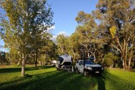 Camped beside the Warrego River at Augathella.