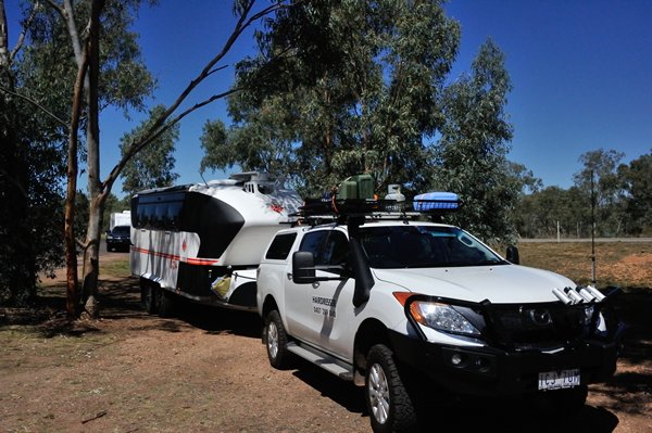 Camped at Cunnamulla.