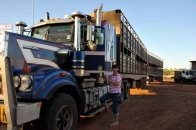 Kenworth Roadtrain about to head off.