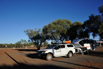 Camped at Burke & Wills Roadhouse.