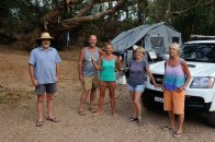 Great times were had with fellow campers Doug & Vivien and Mark & Chris (Centre).