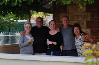 David's Mum Chris (left) with Bob, Kristy, David and Mandi.