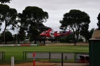 Medivac helicopter even landed on the oval.