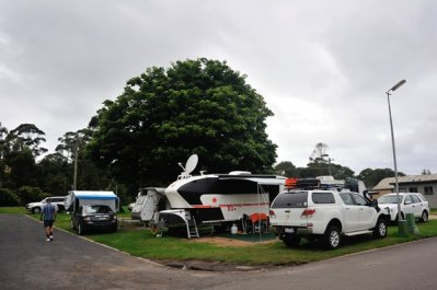 Our corner site at Merimbula.