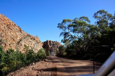 The track through Brachina Gorge.